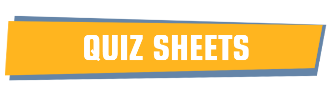 Quiz sheet templates - free to download